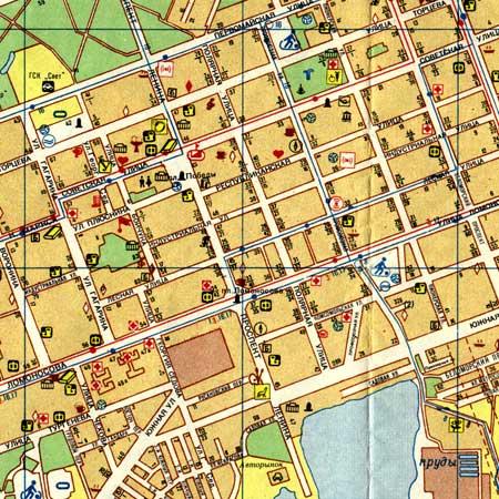 Типичная карта города